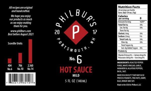 Philbur's No. 6 Hot Sauce
