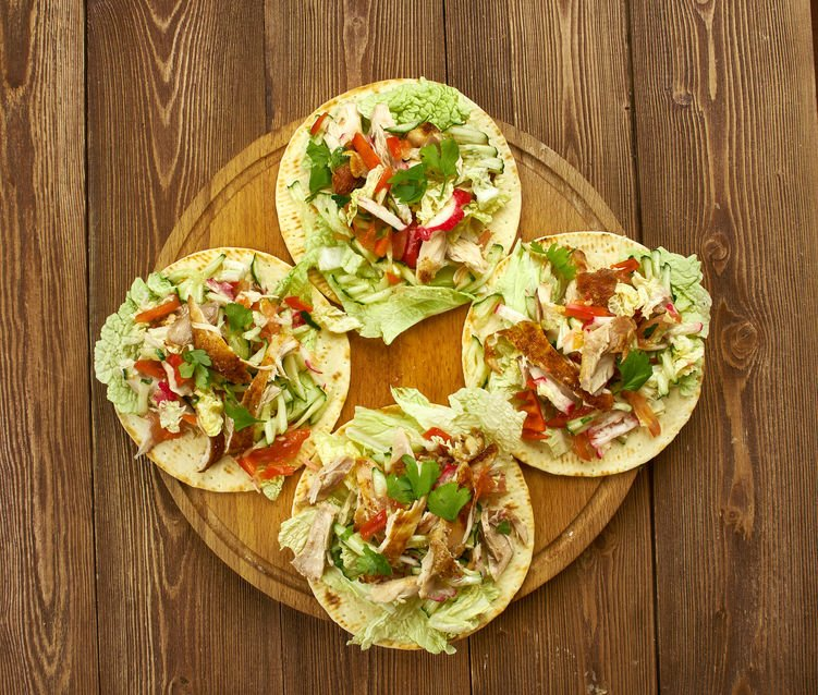 Black Bean & Salmon Tostadas
